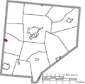 Map of Clinton County Ohio Highlighting Clarksville Village.png