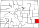 Map of Colorado highlighting Prowers County.svg