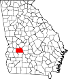 Map of Georgia highlighting Sumter County.svg