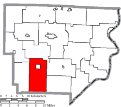Location of Washington Township in Monroe County