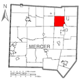 Map of New Vernon Township, Mercer County, Pennsylvania Highlighted.png