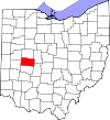 State map highlighting Champaign County