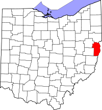 Map of Ohio highlighting Jefferson County.svg