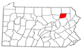 Map of Pennsylvania highlighting Wyoming County.png