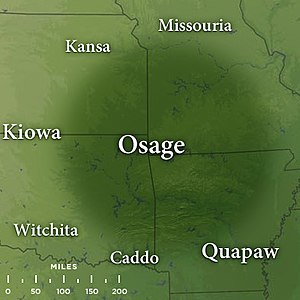 Osage Nation - Map of traditional Osage lands by the late 17th century