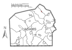 Map of York Springs, Adams County, Pennsylvania Highlighted.png
