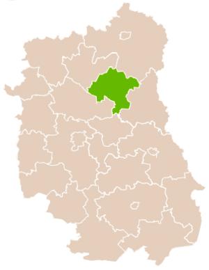 Parczew County - Image: Mapa Pow Parczewski