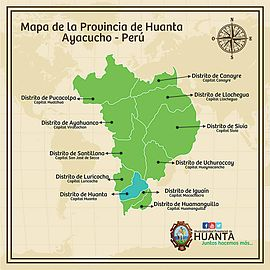 Mapa de la Provincia de Huanta 2015