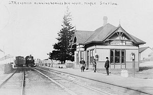 Maple GO Station - The Maple Grand Trunk station in 1909.