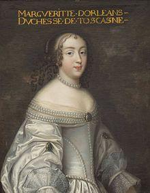 Marguerite-Louise d'Orleans, ritratto della bottega dei Beaubrun (Reggia di Versailles).
