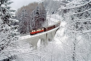 Mariazell Railway - Winter on the Heugrabenviadukt
