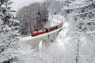 Mariazell Railway an electrically operated narrow-gauge railway in the Austrian alps