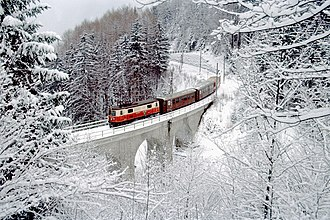 Mariazell Railway - Winter on the Heugrabenviadukt