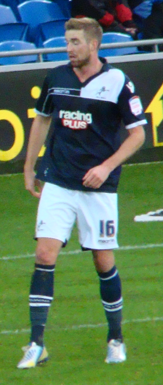 Mark Beevers - Beevers playing for Millwall in 2012