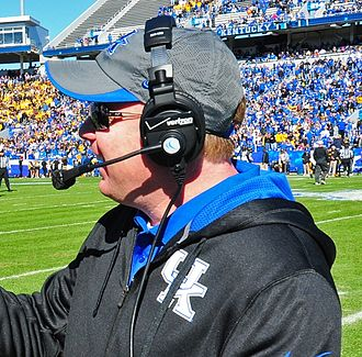 Mark Stoops - Stoops at the University of Kentucky Commonwealth Stadium in 2013.