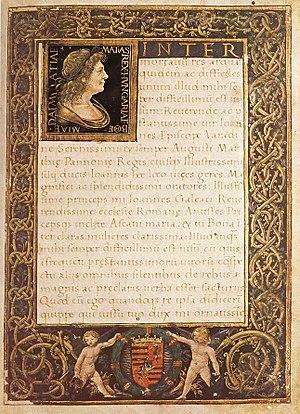 Epithalamium - Marlianus Mediolanensis Ioannes Franciscus Epithalamium in nuptiis Blancae Mariae Sfortiae et Iohannis Corvini