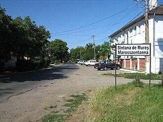 Sântana de Mureș - Image: Marosszentanna tábla