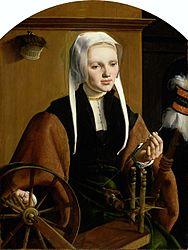 Хемскерк, Мартен ван: Portrait of (possibly) Anna Codde, pendant of (possibly) her husband Pieter Gerritsz Bicker