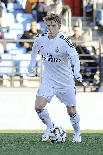 Martin Ødegaard - Ødegaard playing for Real Madrid Castilla in 2015