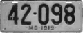 Maryland license plate, 1919.png