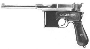 Kakori conspiracy - Photo of German made Mauser pistol. Four Mausers were used by the Indian freedom fighters.