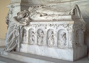 Antonio Cánovas del Castillo - Cánovas' tomb at the Panteón de Hombres Ilustres in Madrid.