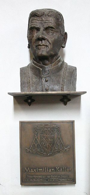 Maximilian Kaller - Bust of Kaller in Frombork's Archcathedral Basilica of the Assumption of the Blessed Virgin Mary and St. Andrew, Frombork.