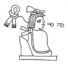 Glyphe nahuatl représentant Maxtla (détail détouré du folio 6 du Codex Xolotl)