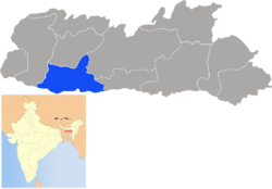 Location of South Garo Hills district in Meghalaya