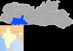 Vị trí của Huyện South Garo Hills