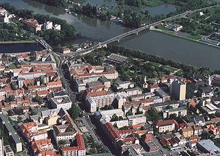 Szolnok City with county rights in Jász-Nagykun-Szolnok, Hungary
