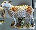 Meissen, 1740-1763 circa, statuina di pecora 02.JPG