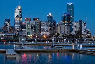 Panorama Melbourne z kierunku południowo-zachodniego (Yarra's Edge, Docklands)