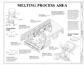 Melting Process Area - Southern Ductile Casting Company, Bessemer Foundry, 2217 Carolina Avenue, Bessemer, Jefferson County, AL HAER ALA,37-BES,5- (sheet 4 of 9).png