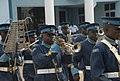 Members of the Kofi Annan International Peacekeeping Training Center honor guard band perform during a welcoming ceremony for Ivory Coast Gen. Soumaila Bakayoko, the Economic Community of West African States 130626-A-ZZ999-007.jpg