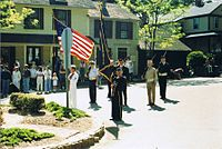 Memorial Day ceremony 1990 Chester Connecticut.jpg