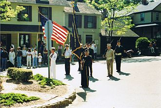 Chester, Connecticut - Memorial Day ceremony in Chester, 1990