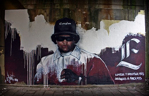 Memorial Eazy-E made by streetartist LJvanT @ Leeuwarden the Netherlands