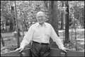 Menahem Begin poses at Camp David - NARA - 181167.tif