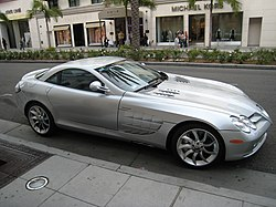 Mercedes-benz SLR parked on rodeo drive.JPG