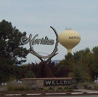Meridian, Idaho - Image: Meridian idaho welcome sign