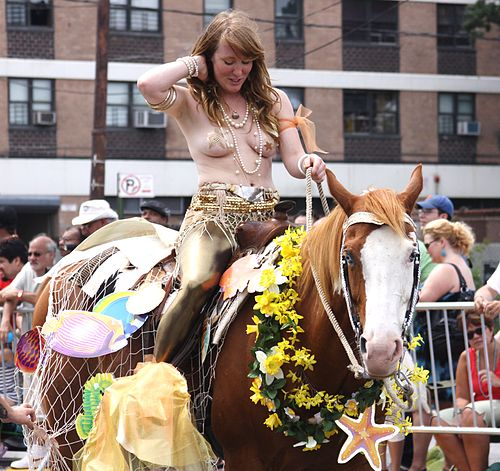 Mermaid Parade 2011 Horseback Mermaid