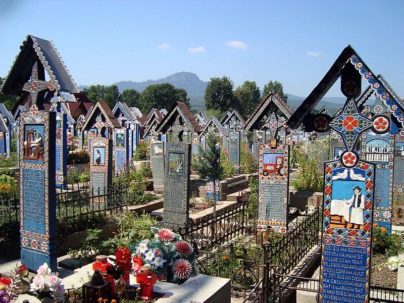 Cemitério ponto turístico da Romênia
