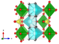 Meta-autunite - Makarov E S, Ivanov V I Doklady Akademii Nauk SSSR 132 (1960) 601-603 The crystal structure of meta-autunite, Ca(UO2)2(PO4)2x6H2O b-axis.png