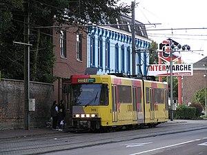 Charleroi Metro - A Charleroi Pre-metro BN tram in TEC Charleroi livery.