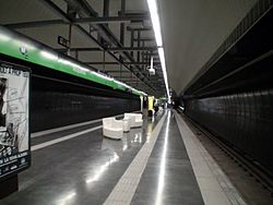 Metro Barcelona Roquetes Station.JPG