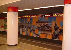 Astoria (Budapest Metro) - Image: Metro astoria budapest 2