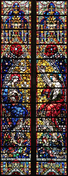 Coronation of Mary, Window by Mayer, 19th century, Cathedral of Metz, France.