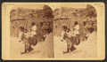 Mexican residents and a Burro, by Jackson, William Henry, 1843-1942.png