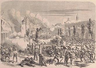 Battle of Tacámbaro - Depiction of the Battle of Tacámbaro
